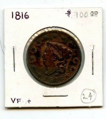 1816 Coronet Head Large Cent From Estate!!!!...starts @ 2.99
