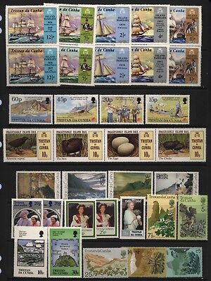 Tristan Da Cunha Collection Commemorative Stamps (Inc Sets) Unmounted Mint
