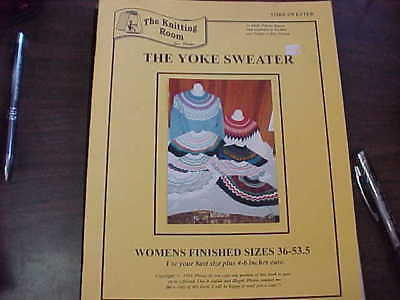 """The Yoke Sweater by The Knitting Room.  Sizes 36"""" through 53.5"""" Finished sizes."""