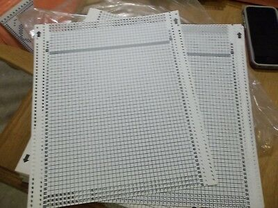 Blank Deco Cards for Passap Knitting Machines - Lot of 7 Plus 2 bent & a partial