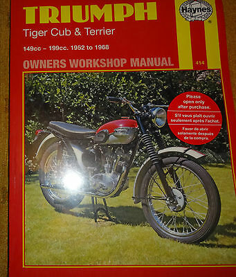 "Triumph  Cub 1952 To 1968  ""haynes""  Workshop Manual"