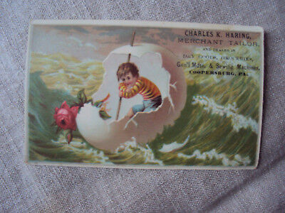 Antique Trade Card Merchant Tailor Charles Haring Dry Goods Coopersburg Pa.