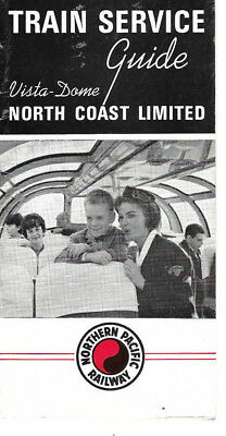1964 Northern Pacific Railway Vista-Dome North Coast LImited Train Service Guide