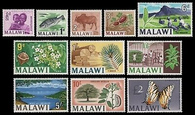 Malawi 1966 - Mi-Nr. 41-51 ** - MNH - Freimarken / Definitives