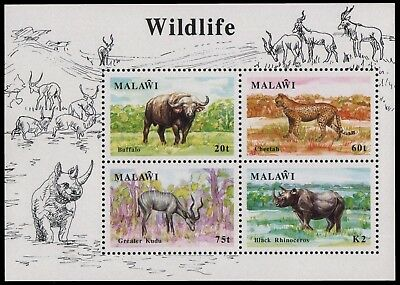 Malawi 1991 - Mi-Nr. Block 74 ** - MNH - Wildtiere / Wild animals