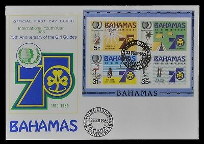 Bahamas 1985 - Mi-Nr. Block 45 - FDC - Pfadfinder / Scouts