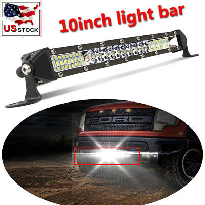 """10""""inch 104W Slim Row Led Work Light Bar Front Topbumper Offroad Lamp 4Wd 12''"""