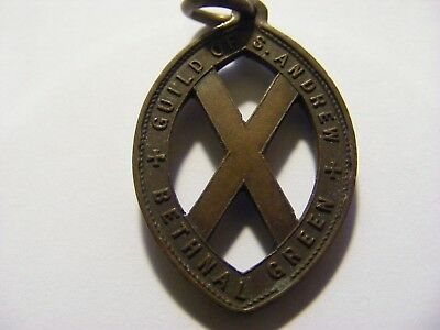 A Bethnal Green Guild of Saint Andrew Medal, nice condition - 35mm Long