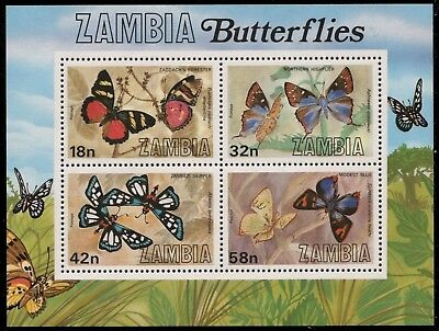 complete.issue. Benin Block16 Never Hinged 1996 Butterflies Unmounted Mint