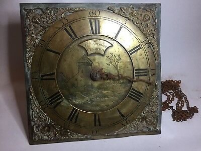 Antique Grandfather Clock Movement G Newman Crediton Devon C1750 11x11