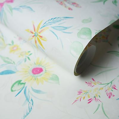 Watercolour Butterfly Wallpaper Flowers Floral Abstract Metallic Luxury Holden