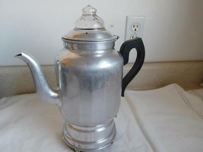 Vintage Rus Hold Heet Coffee Pot Maker Electric Percolator Not Working 110