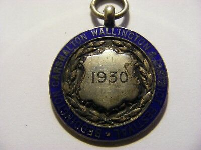 A 1930 Silver Beddington National Dancing 1st Medal, nice condition - 25mm Dia