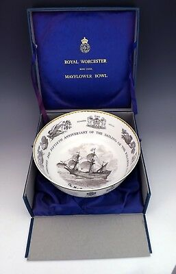Royal Worcester Porcelain - The Mayflower Bowl - Boxed Limited Edition!