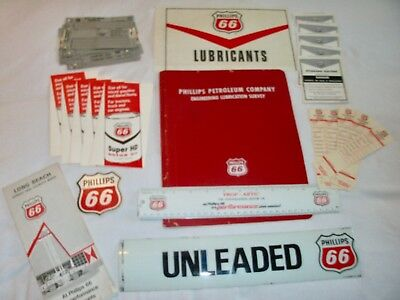 30. PHILLIPS 66 - Vintage Collectibles  Decal / Sticker / Map / Ruler & More