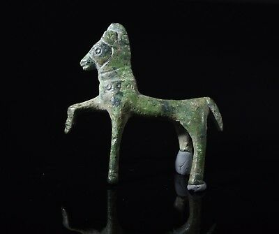 Ancient Celtic Bronze Horse Amulet / Statuette  - T135