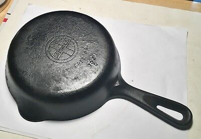 Antique Griswold Cast Iron Skillet No.4 Erie Pa. U.S.A. 702C Original+Beauty!