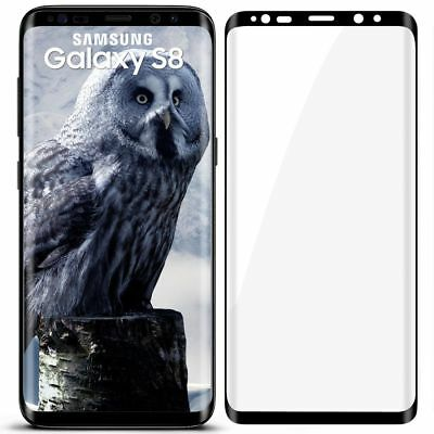 3D Panzer Glasfolie für Samsung Galaxy S8 aus 9H Hart Glas Curved Full Screen