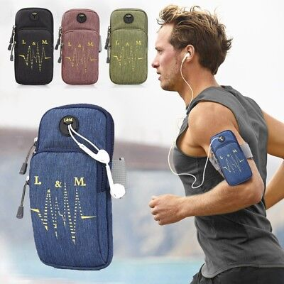 1PC Adjustable Arm Band Bag Water Resistant Multi-pocket Phone Holder Pouch New