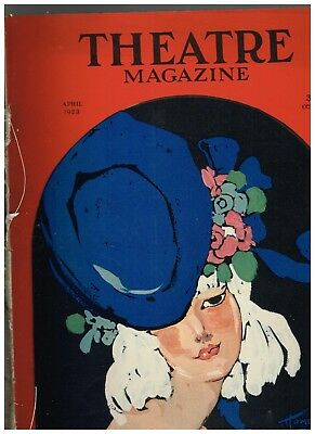 April 1923 Theatre Magazine with Homer Conant cover