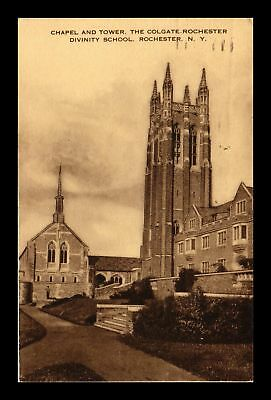 Dr Jim Stamp Us Chapel Tower Colgate Rochester Divinity School New York Postcard