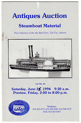Garth's Auctions: Steamboat Material, The Collection of Bert Fenn, 1994