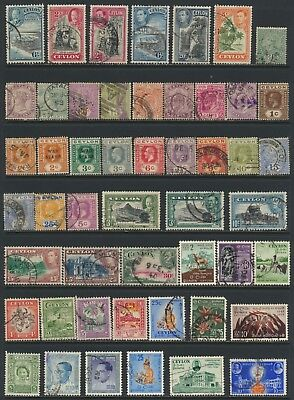 Ceylon Stamps - Singles - Used - Lot A-143