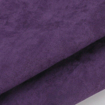 Suede Fabric Faux Cushion Plain Craft Top Quality Suedette Material Dressmake