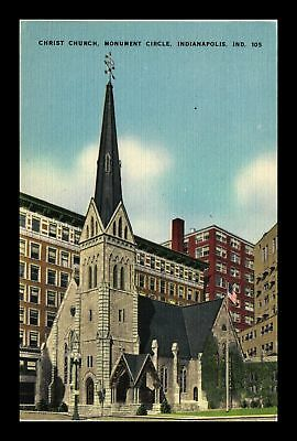 Dr Jim Stamps Us Christ Church Monument Circle Indianapolis Indiana Postcard