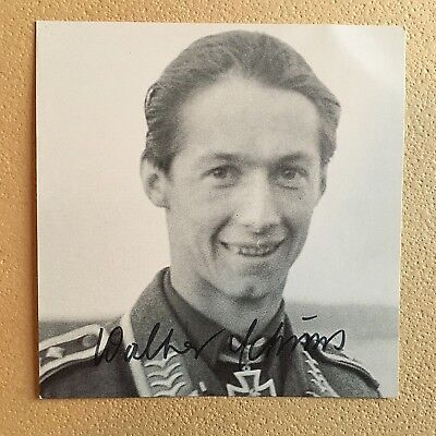 Walter Schuck Wwii Luftwaffe Ace 206 Victories Signed Photo