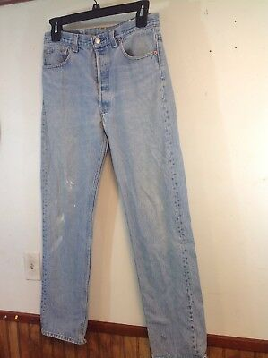 "vintage levis  denim jeanS button fly 501 70's 80's 35"" W 36"" L TAG 32 1/2W 33""L"