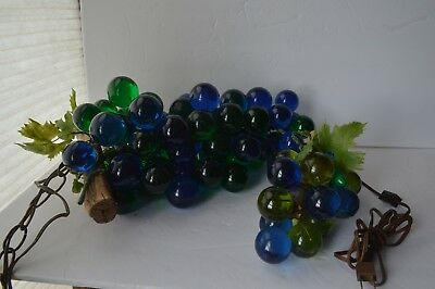 Vintage Acrylic Lucite Cluster Grapes Hanging Lamp 2 color + Extra Hanging Lamp