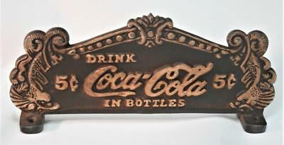 Reproduced Coca Cola Fountain Service - 2 sided - Cash Register Topper Cast Iron
