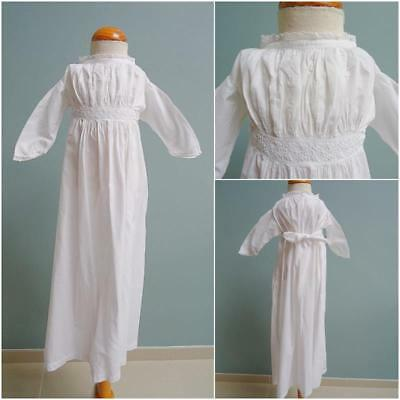Antique Victorian Babys Nightgown Gown Embroidered Whitework & Lace Trim c1890