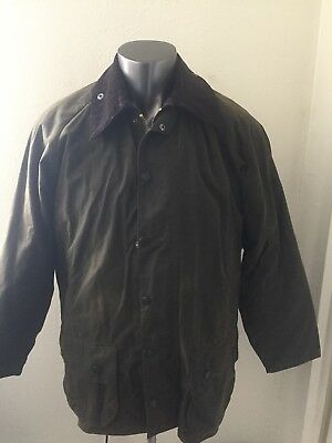 Mens Barbour Classic Beaufort Waxed Cotton Jacket Quilted Liner Olive Size 42