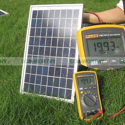 10W Watt PV Solar Panel Module for 12V Solar Home Car Boat Battery Recharge