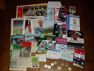 27 x football memorabilia items  - tickets, programmes, cards, coins 1959 - 2018