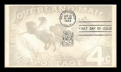 Dr Jim Stamps Us Cover Overland Mail All Over Fdc Scott 1120