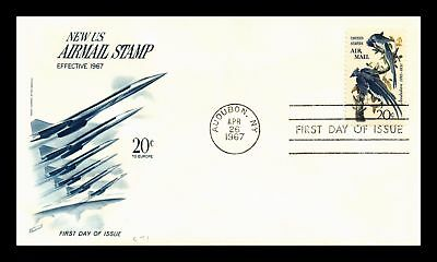 Dr Jim Stamps Us Cover Audubon Birds Air Mail Fdc Scott C71 Fleetwood