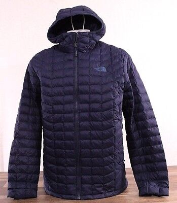 The North Face Men's XL Thermoball Full Zip Jacket Puffer NAVY Blue Hoodie NWT