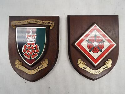 Two Lancashire The Queens Regiment Shields Army Collectable 1970 - SA1