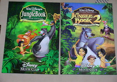 Disney Movie Club 3D Lenticular Cards Lot The Jungle Book 1 & 2 RARE collector's