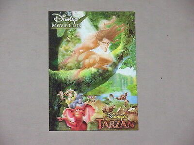 Disney Movie Club 3D Lenticular Card Tarzan MINI Collector's RARE