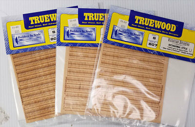 "Buildiers in Scale #807 ""Truewood"" S-Scale Victorian Shingles, 3 Packages"
