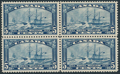 Canada #204 5c Royal William Issue, Block of 4, VF Hinged