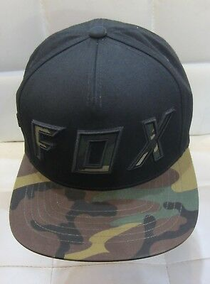 937c3d96211 ... low price fox racing posessed hat snapback cap motocross off road mx  atv camo black new
