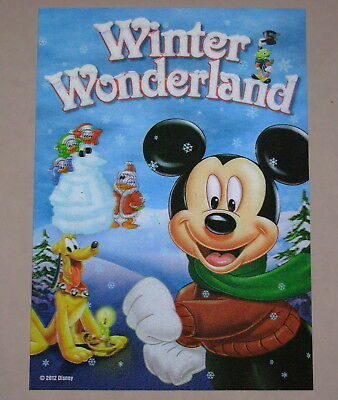 Disney Movie Club 3D Lenticular Card Winter Wonderland RARE collector's