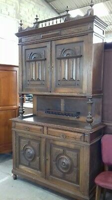 BEAUTIFUL ANTIQUE 19THC FRENCH  CARVED  PIECE BUFFET SIDEBOARD/keys