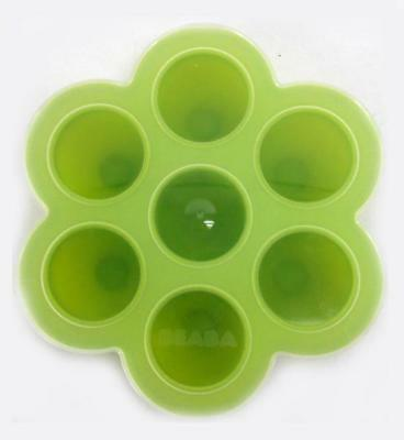 BEABA Baby Food Storage Container Freezer Molds Multi portion Silicone - Green