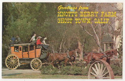 Knott's Berry Farm Ghost Town California, Stage Coach, Greetings From postcard